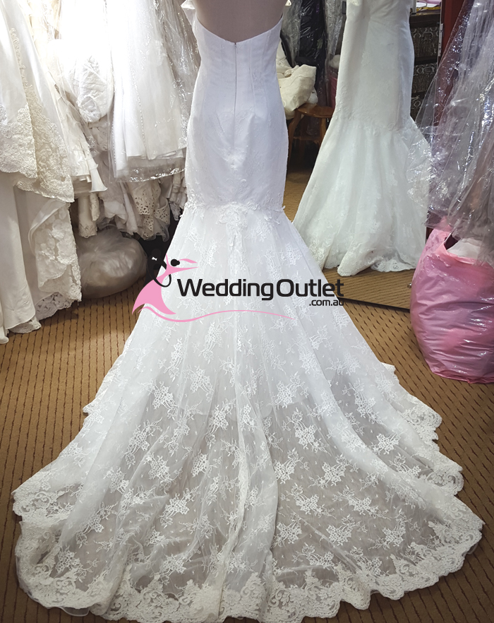 Taimane French Lace Sweetheart Mermaid Wedding Dress