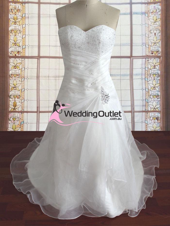 Sammie strapless beaded with pearls wedding gown - WeddingOutlet.com.au