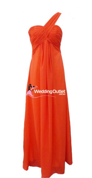 Tangerine Orange Bridesmaid Dresses style F101