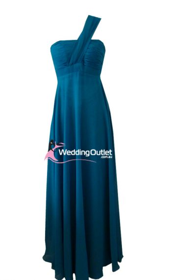 Teal Bridesmaid Dress Maxi Style #B9190
