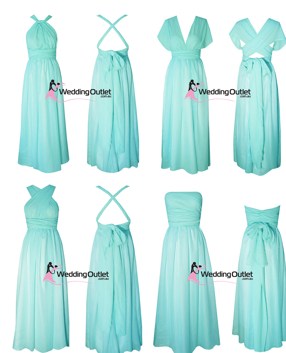 Fine wrap dress bridesmaid gallery wedding ideas memiocall eight way twist and wrap dress style u101 weddingoutlet ombrellifo Gallery