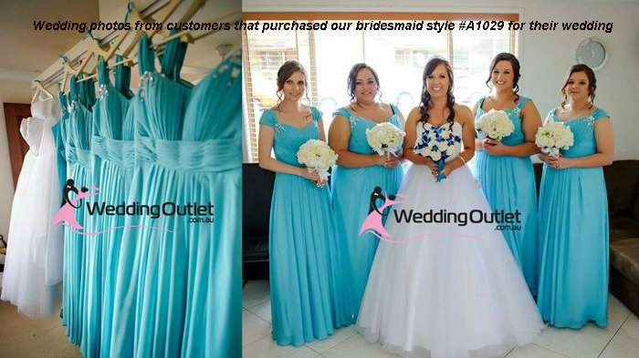 Aqua Bridesmaid Dresses Style #A1029 - WeddingOutlet.com.au