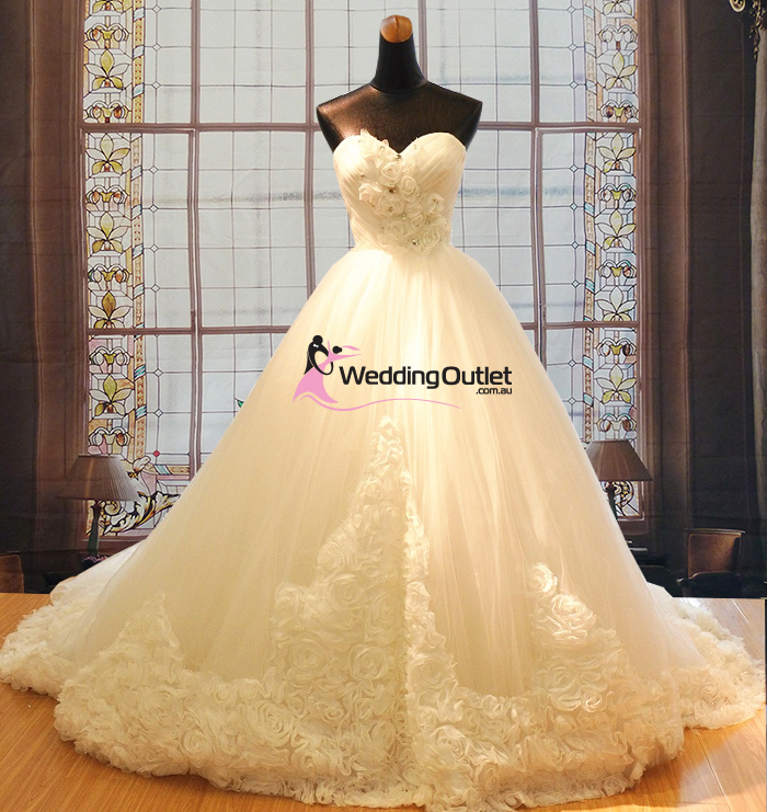 Alison Wedding dress with rose embellishments