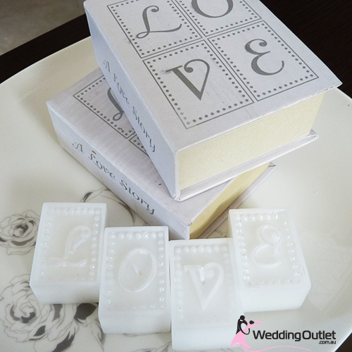 Wedding Gift Ideas Australia : Wedding favours LOVE 4 set Candles in a beautiful gift box