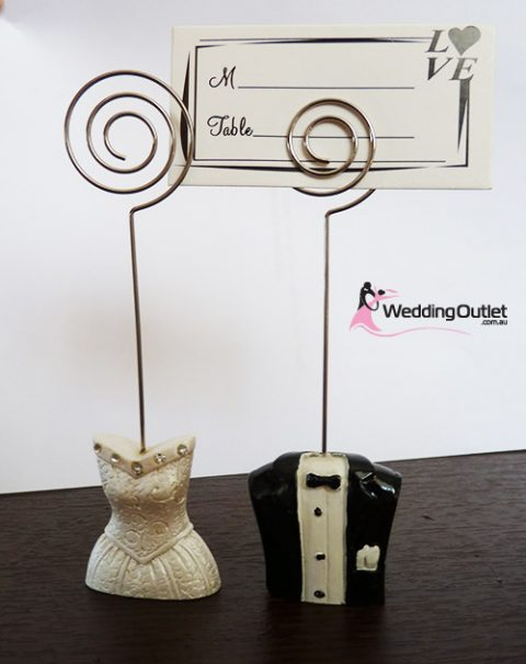 Two in a set Bride and Groom Namecard Holders Wedding Favour