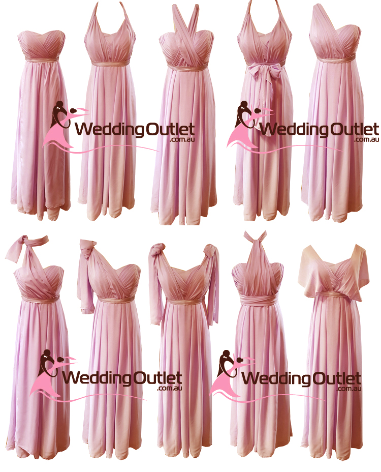 Dusty Pink Convertible Wrap Dress Style #UU101 - WeddingOutlet.com.au