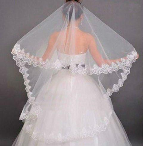 Beautiful wedding lace veil (sa-10)