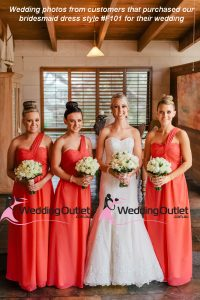 watermelon bridesmaid dresses
