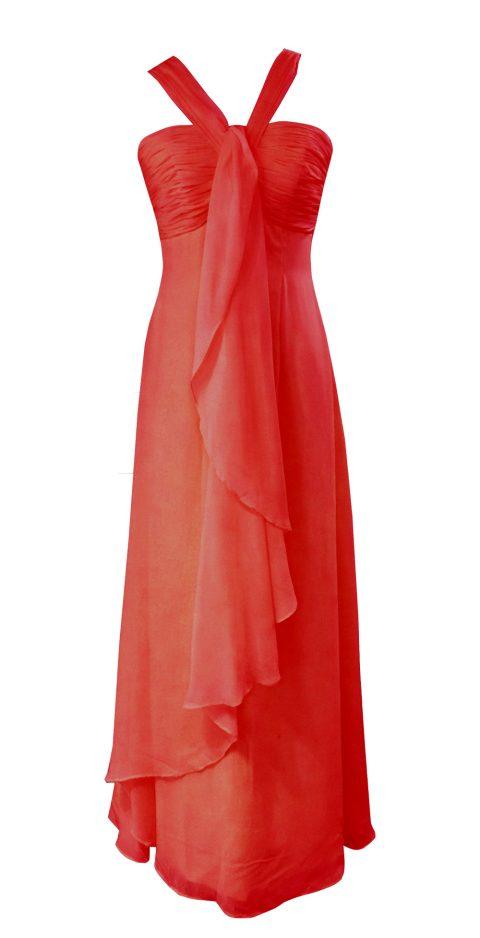 Red Halter Neck Bridesmaid Dresses Style #AL101