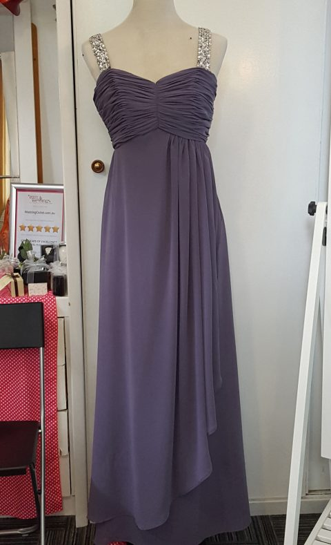 Royal Purple Evening Dress Formal wear style #O1100