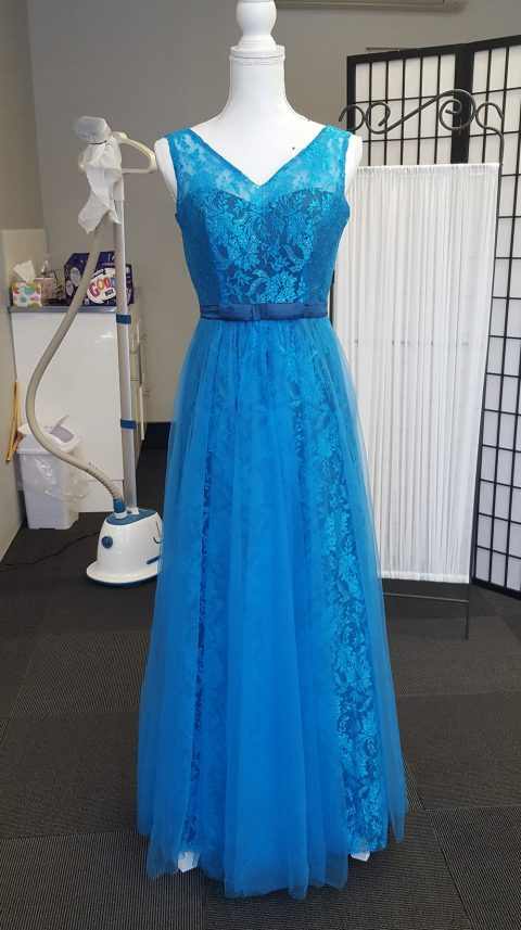 Teal Lace Evening Dress Style AB1100