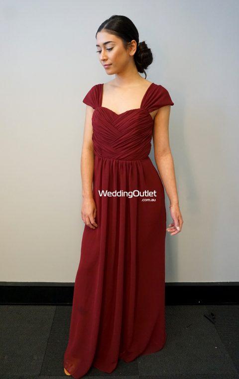 Burgundy Maroon Bridesmaid Dress #AFA101