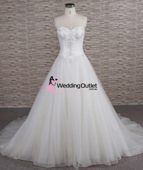 Quinn Strapless Beaded Aline Wedding Dress