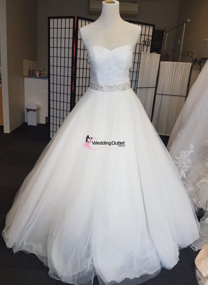 Cinderella Ball Gown Wedding Dress with Sparkles