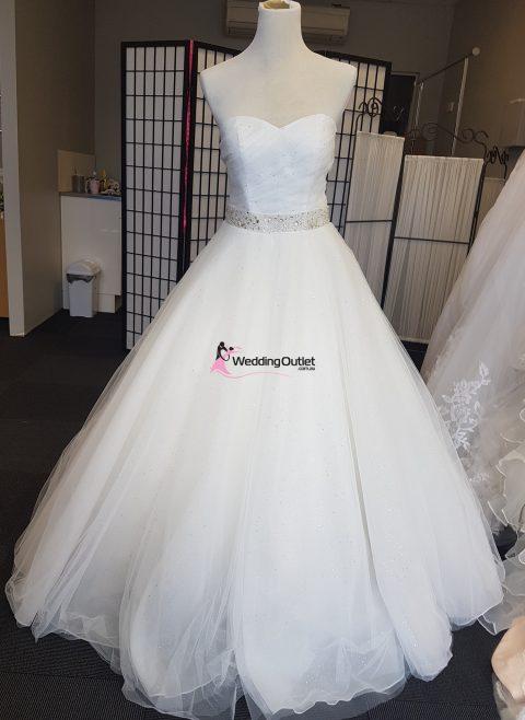 Cinderella Ball Gown Wedding Dress with Sparkles