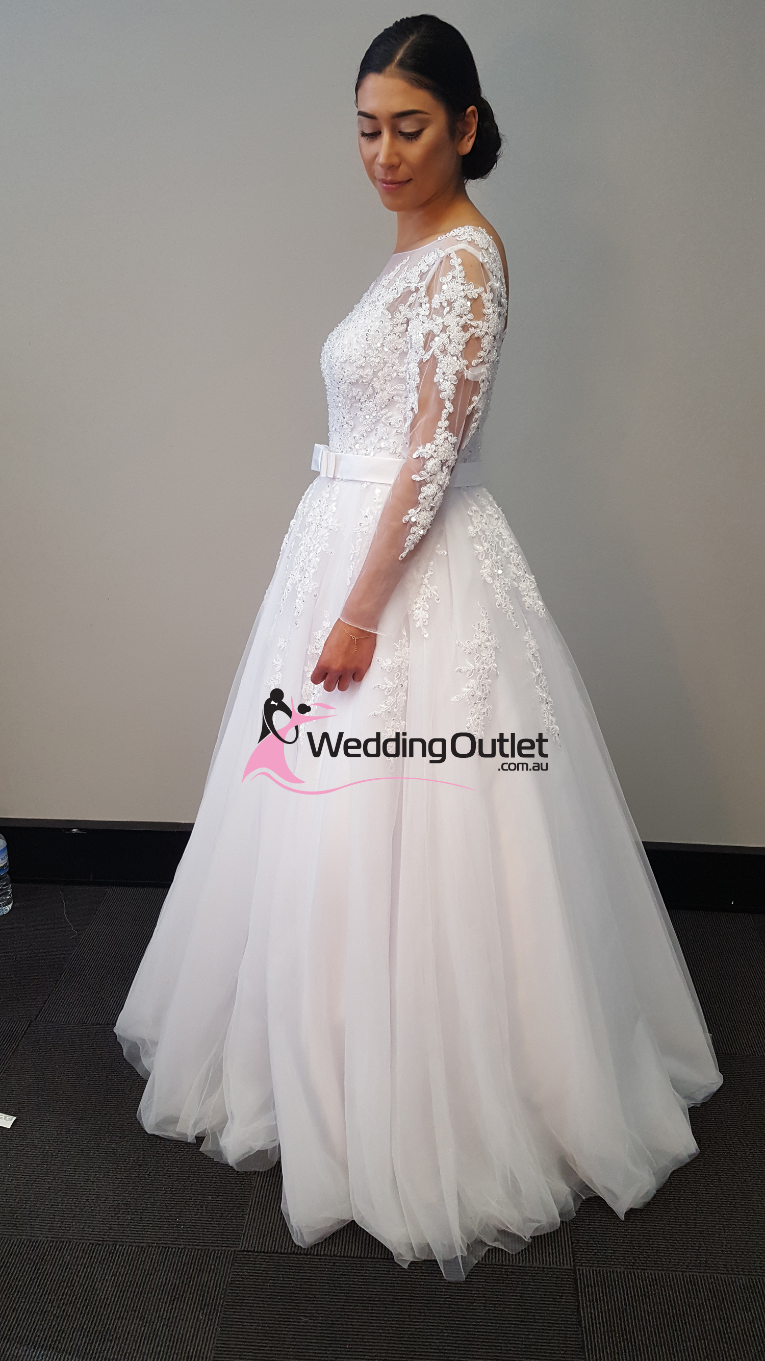 4a7d0a52041 Camila Lace Long Sleeve Sequins and Beading Luxury Wedding Dress