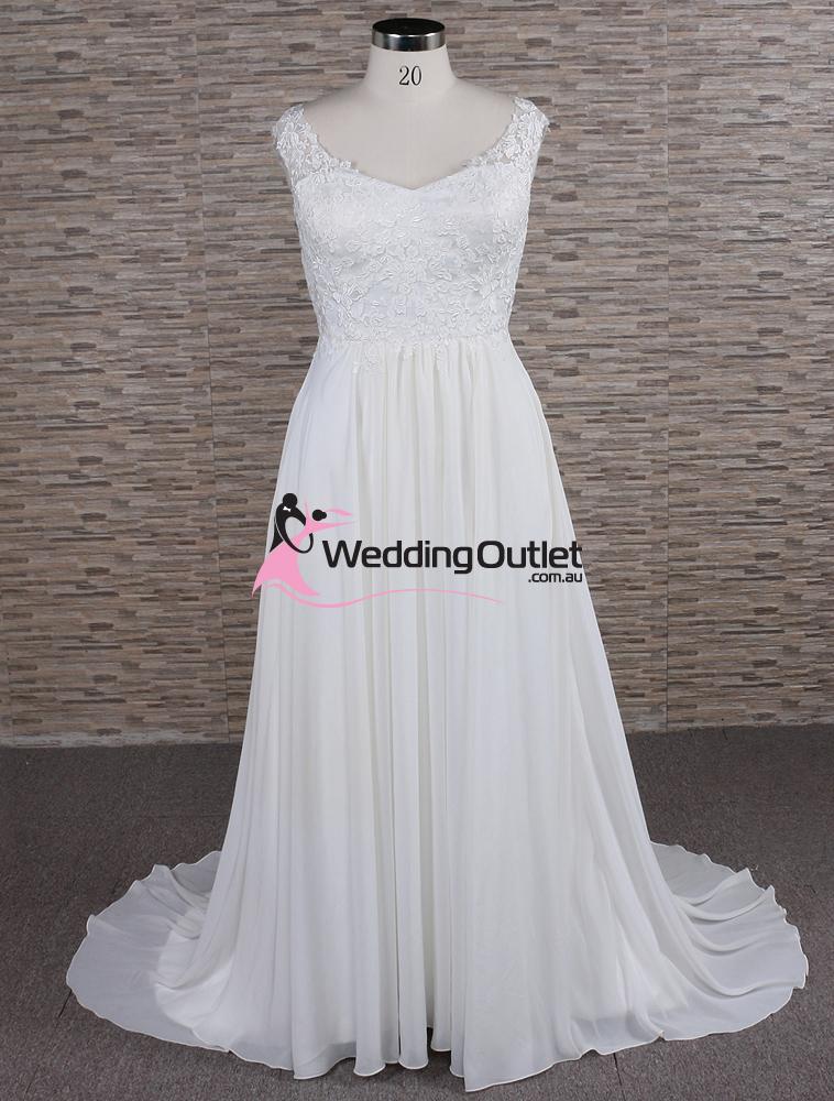 Morgan Simple Lace Beach Bridal Gown Weddingoutlet Com Au