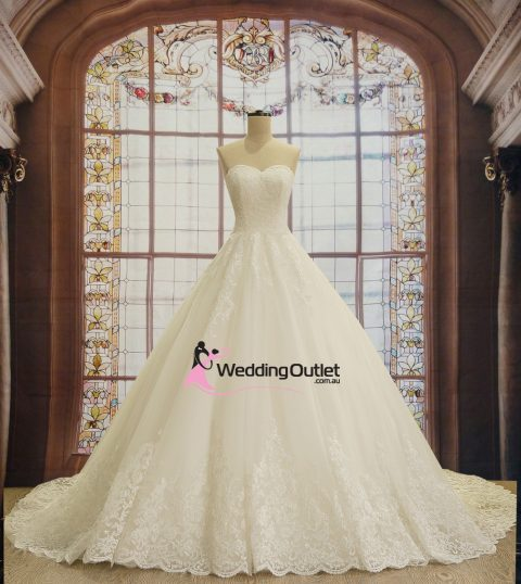 Alina Strapless Princess Lace Bridal Wear