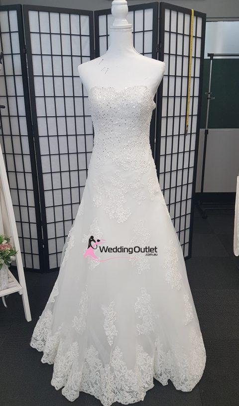 Arabella Strapless Semi Aline Wedding Dress