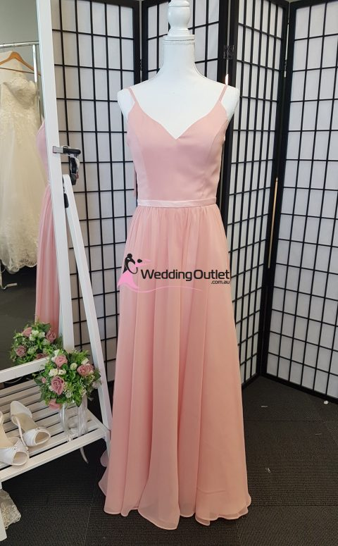 Dusty Rose Bridesmaid Dress V neck Style #RR101