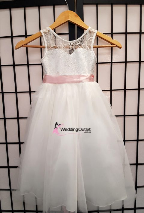 Lace Flower Girl Dress with Sash Style #FL102