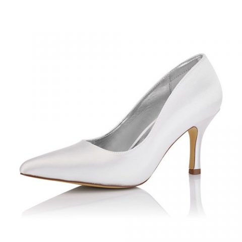Zara Satin Pump Bridal Shoe