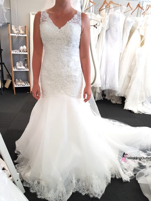 Calais Lace with Beading Mermaid Bridal Dress