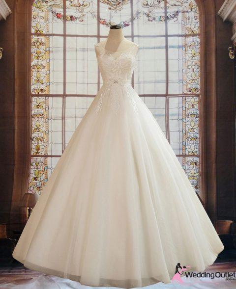 Autumn Aline Wedding Dress with Unique Lace