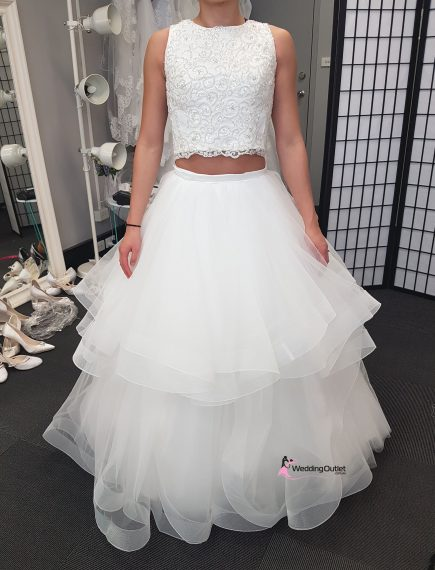 Jaimelee Two Piece Ruffle Wedding Dress