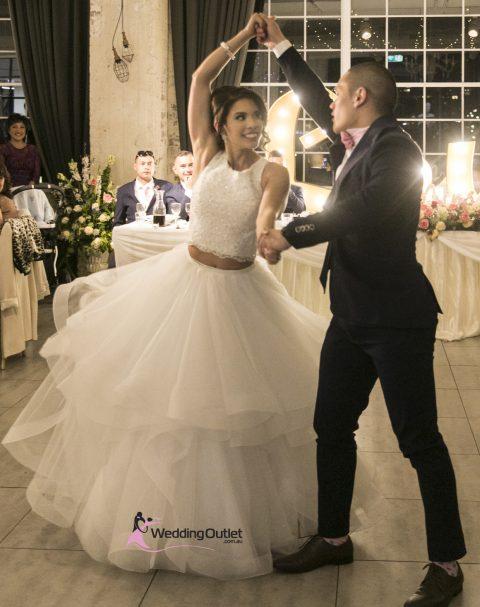 Jaimelee Two Piece Ruffle Wedding Dress