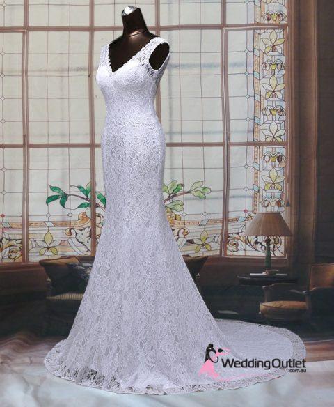 Esteri Mermaid Simple Wedding Gown