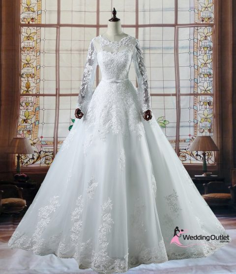Israa Long Sleeve Lace Wedding Dress