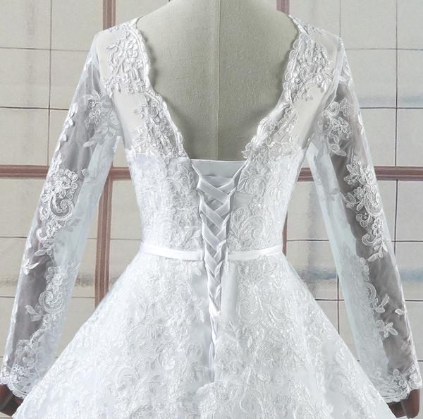 Israa Long Sleeve Lace Wedding Dress