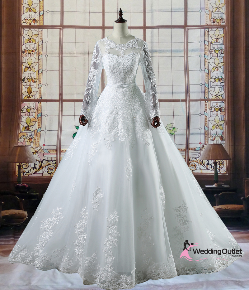Wedding Gowns Outlet: Israa Long Sleeve Lace Wedding Dress