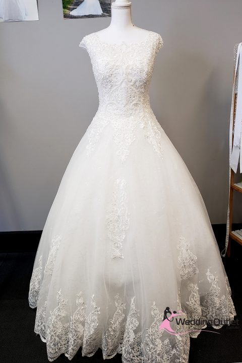 Becca Lace Beaded Wedding Dress