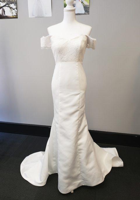Rylee Mermaid Simple Off Shoulder Wedding Dress