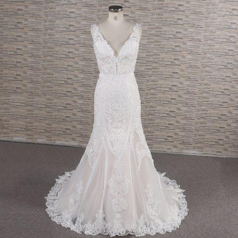 Juliana mermaid blush wedding dress