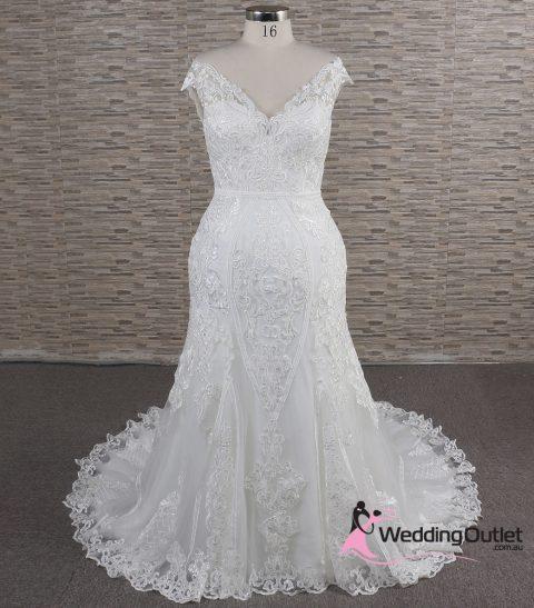 Julias Mermaid Off Shoulder Bridal Gown