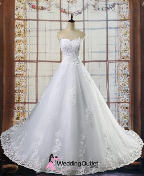 Akila Aline Wedding Dress with Lace