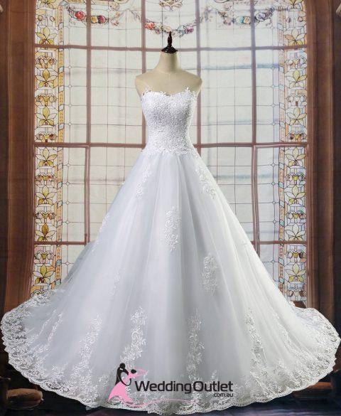 Akila Aline Wedding Dress with Lace