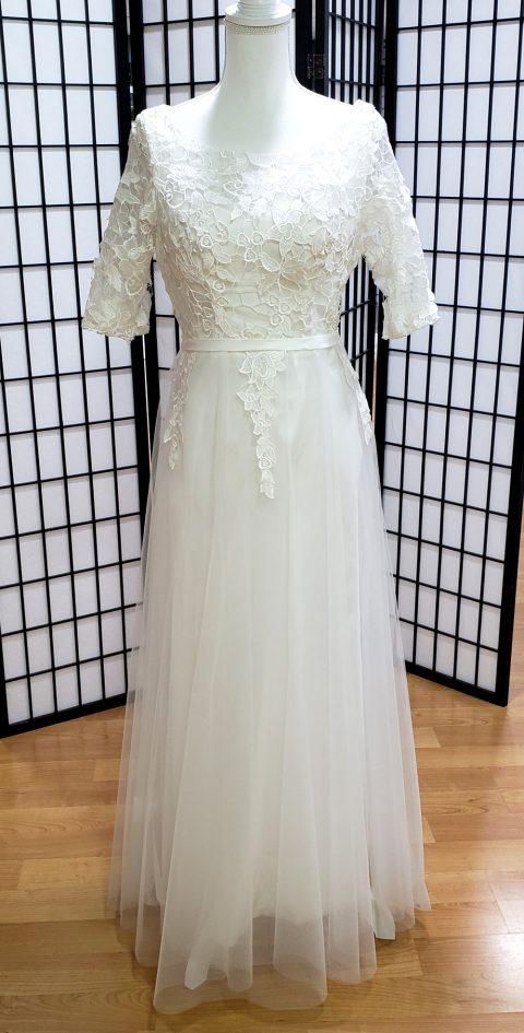 Aisha Simple Sleeved Wedding Dress