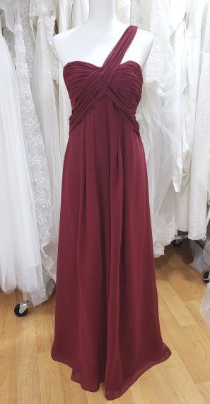 Burgundy Bridesmaid or Evening Dress #F101