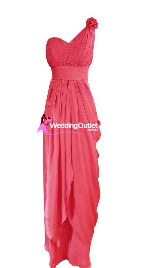 Coral Pink Bridesmaid or Formal Dress