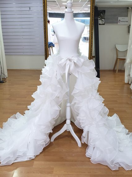 Detachable Ruffle Organza Skirt