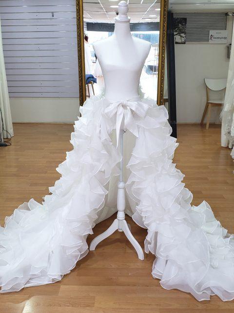 Detachable Ruffle Organza Skirt