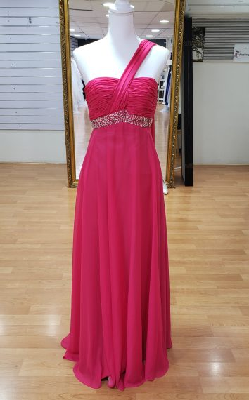 Hot Pink Bridesmaid or Formal Dress