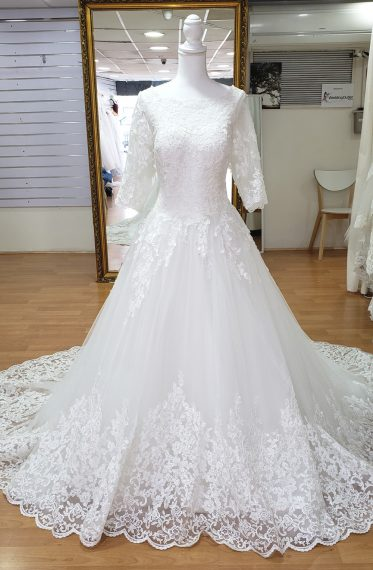 Alina Long Sleeve Lace Wedding Dress