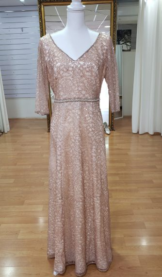 Champagne Mother of Bride Sparkly Evening Dress Plus Size
