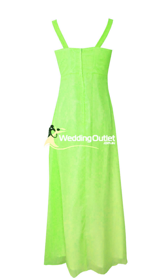 Apple Green Bridesmaid Dress Style G101 No Sequins On