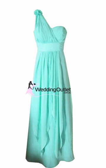 Aqua Bridesmaid Dress Style #C103